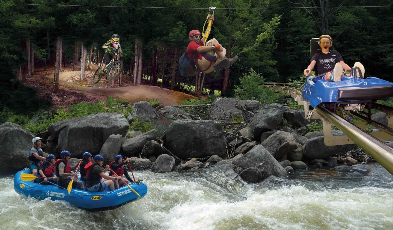 Raft, Coaster, Bike, Zip